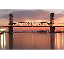 Cape Fear River Sunset Photographic Print