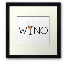 Wino Wine Lover Glass Framed Print