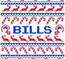 Bills Football Christmas Ugly Sweater T Shirt by CosmikMonkey