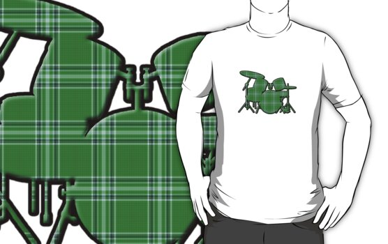 Plaid Drumset by surgedesigns