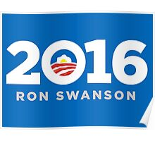 Ron Swanson 2016 sticker mug campaign poster Poster