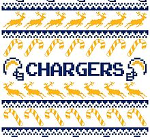 Chargers Football Christmas Ugly Sweater by CosmikMonkey