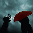 Red Umbrella III by Bogac Erguvenc