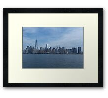 The Financial district, New York  Framed Print