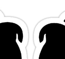 Turn Up [Black] Sticker