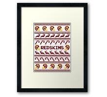 Redskins Football Christmas Ugly Sweater Framed Print