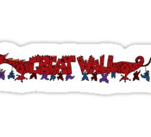 Great Wall of Mushu Sticker