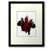 Deadpool - Trash Framed Print