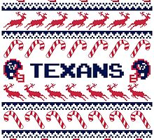 Texans Football Christmas Ugly Sweater - Houston Football by CosmikMonkey