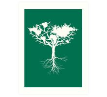 Earth tree *pearl white Art Print