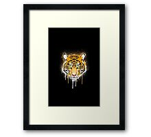 Graffiti Tiger Framed Print