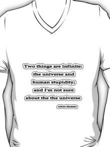 Infinite, Albert Einstein  T-Shirt
