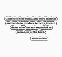 Collective fear, Bertrand Russell by Tammy Soulliere