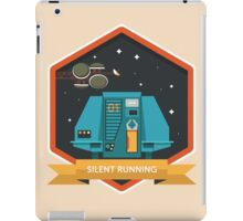 Silent Running Badge iPad Case/Skin