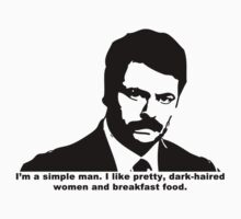 Ron Swanson - Simple Man T-Shirt