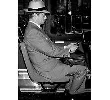 Man on Bus Photographic Print