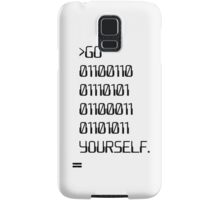 Go ( Binary Curse Word ) Yourself Samsung Galaxy Case/Skin