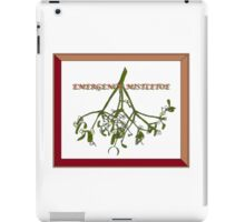 Emergency Mistletoe Framed iPad Case/Skin