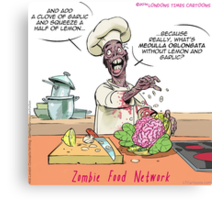 Zombie Food Network Canvas Print