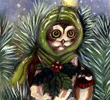 Saw Whet Owl and Friend by Tessa Roever