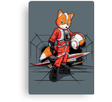 Rebel Fox Canvas Print