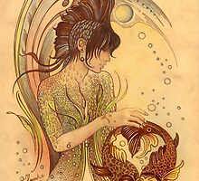 """THE PISCES"" - Protective Angel for Zodiac Sign by Anna Ewa Miarczynska"