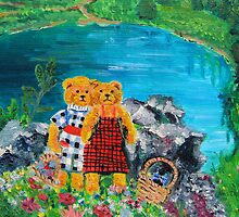Teddy Bears at a Picnic by Nira Dabush