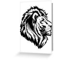 King of the Pride BLACK Greeting Card