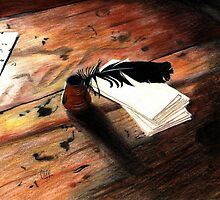 Quill Pen by Genevieve Crabe