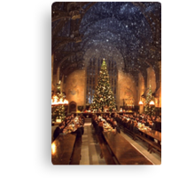 Hogwarts at Christmas Canvas Print