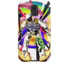 Zandozan Jumps the Flaming Hoop in the Rays of Neptune with a Boom Box and a Pink Dolphin Samsung Galaxy Case/Skin
