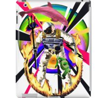 Zandozan Jumps the Flaming Hoop in the Rays of Neptune with a Boom Box and a Pink Dolphin iPad Case/Skin