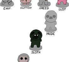 The Binding Of Isaac - The Seven Deadly Sins w/Names by Trick6