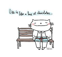 Life is like a box of chocolates ... / Cat doodle by eyecreate