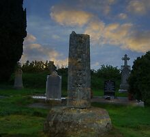 Old Killary Graveyard - Ninth Century Cross by S.I. Sheehan