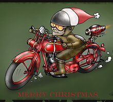 CHRISTMAS MOTORCYCLE STEAMPUNK  by squigglemonkey