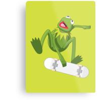 Skate Frog Metal Print