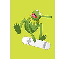 Skate Frog Photographic Print