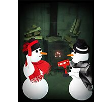 U MELT MY HEART FUN SNOWMAN PICTURE,CARD,PILLOW AND OR TOTE BAG Photographic Print
