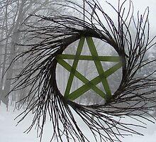 Winter pentagram by vikinggirl