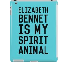 Elizabeth Bennet_Black iPad Case/Skin