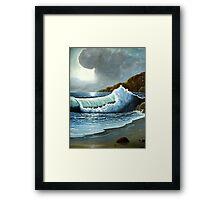 Vibrant Wave Framed Print