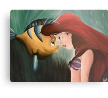 Ariel & Flounder Metal Print