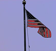 Comic Abstract American Flag by steelwidow