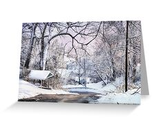 Snowy Day on 5th Street Greeting Card