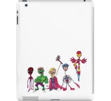 Spindleneck. (The Avengers Ft. Derp Spidey) iPad Case/Skin