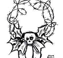 Spooky Wreath by Lizz de Savoye