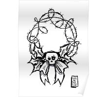 Spooky Wreath Poster