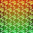 Penrose Cube Stack - Yellow Green by VanHogTrio
