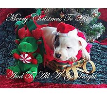 Merry Christmas To All Photographic Print